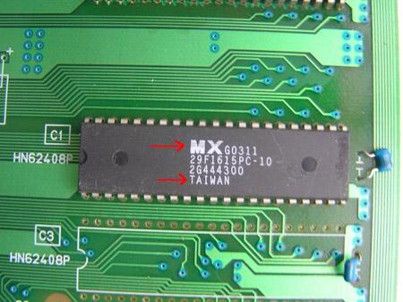 Comme vous pouvez le voir, la PCB est differente et sur l'originale on